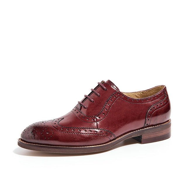 Shonlo | Oxfords Women Wingtip Genuine Leather