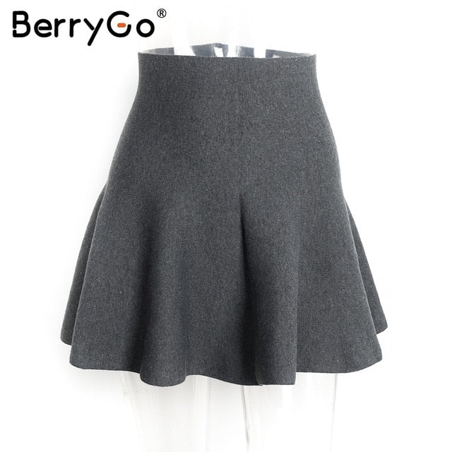 Shonlo | Draped pleated knitted mini skirts