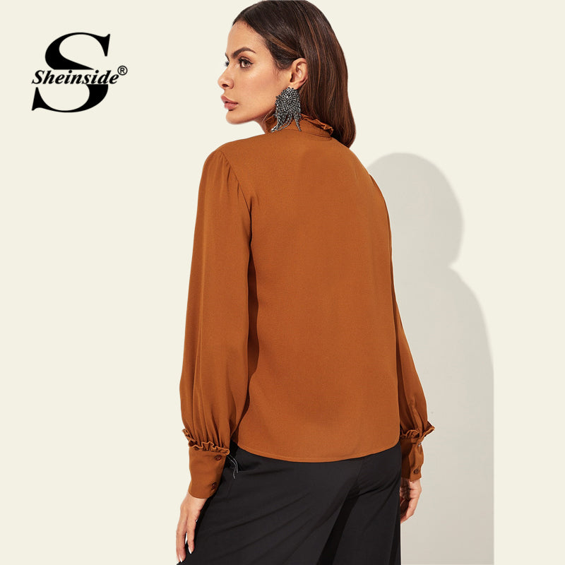Shonlo | Brown Womens Tops And Blouses