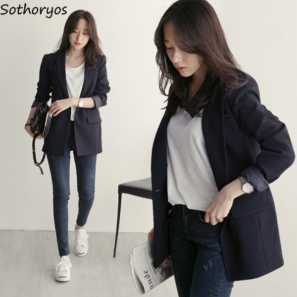 Shonlo | Blazers Women Simple Solid Elegant
