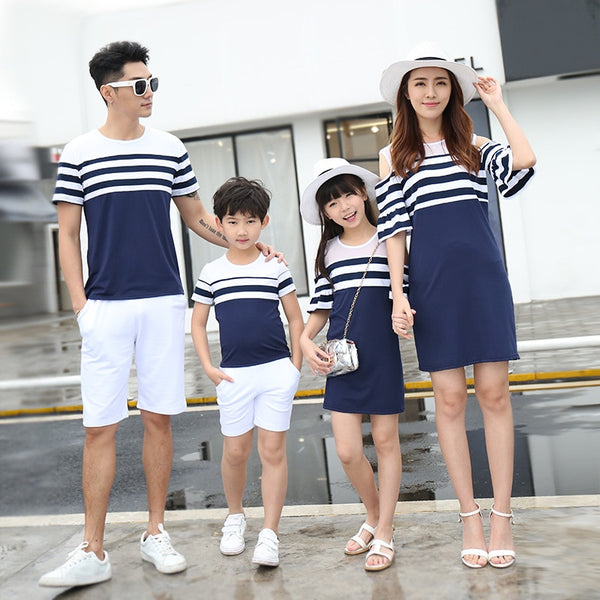 Shonlo | Stripe Family Matching Clothes