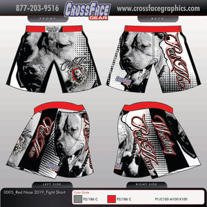 Red Nose Wrestling Full Sublimated Fight Short 2019