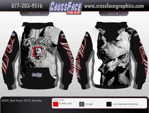 Red Nose Wrestling Full Sublimated Hoodie 2019