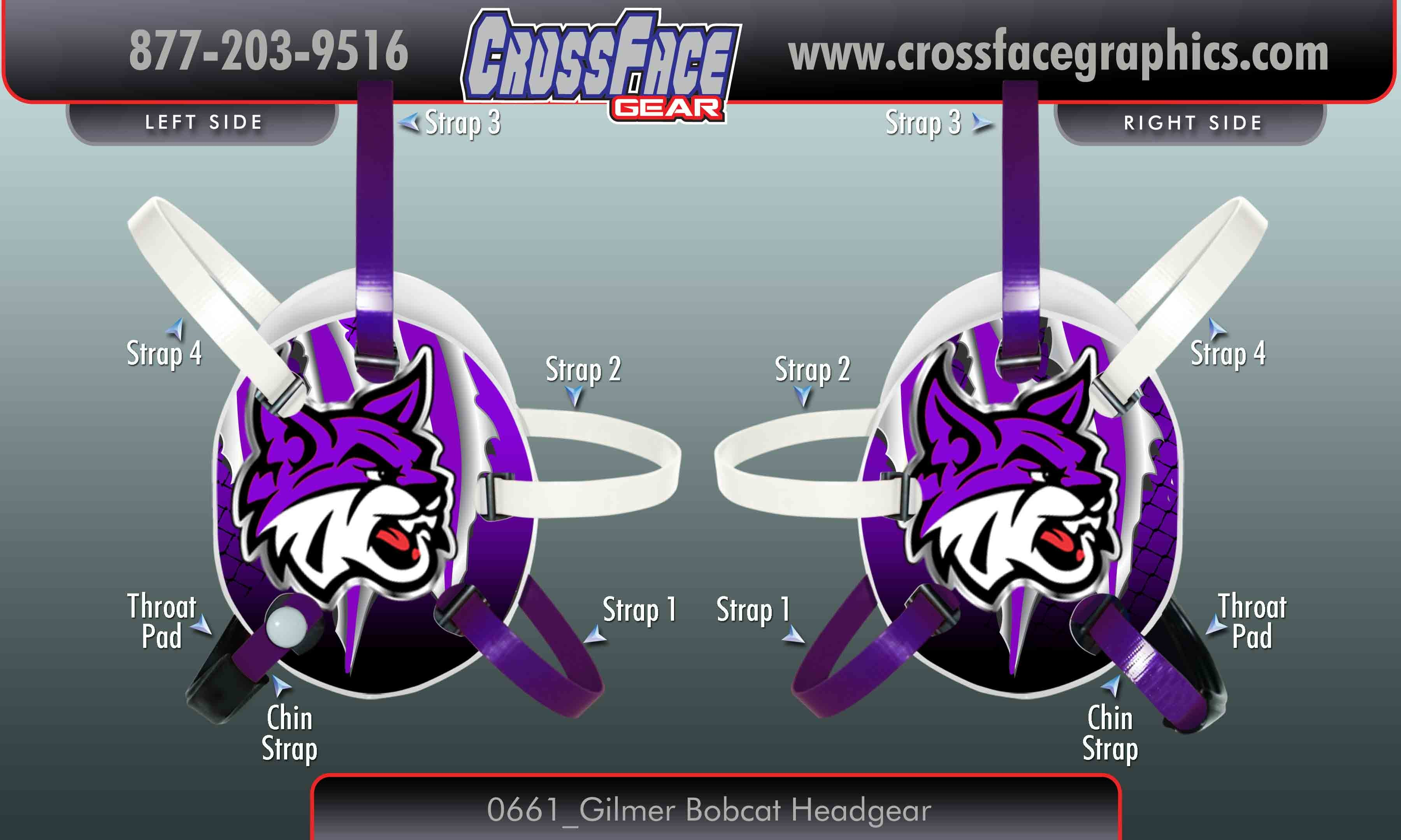 Gilmer Bobcats Custom Headgear