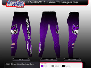 Gilmer Bobcat Full Sublimated Rashguard Pants
