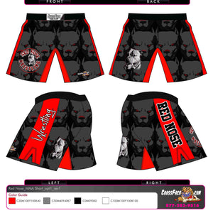 Red Nose Wrestling Full Sublimated Fight Short (BLACK) 2016