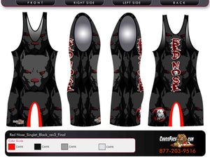 Red Nose Wrestling Full Sublimated Singlet (BLACK) 2016