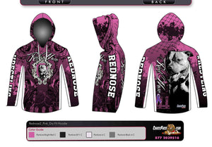 Red Nose Wrestling Full Sublimated DryFit Hoodie (Pink) 2017
