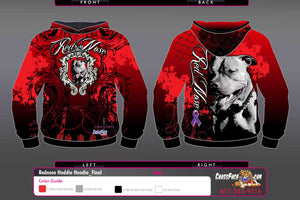 Red Nose Wrestling Full Sublimated Hoodie (RED) 2017
