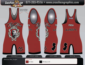 Red Nose Wrestling Full Sublimated Singlet (RED) 2018