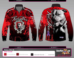 Red Nose Wrestling Full Sublimated 1/4 Zip Warm Up (RED) 2017