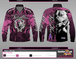 Red Nose Wrestling Full Sublimated 1/4 Zip Warm Up (PINK) 2017