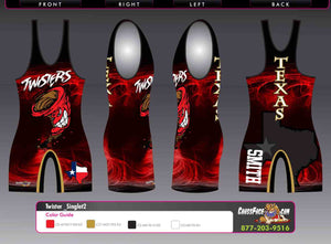 Texas Twisters Wrestling Singlet