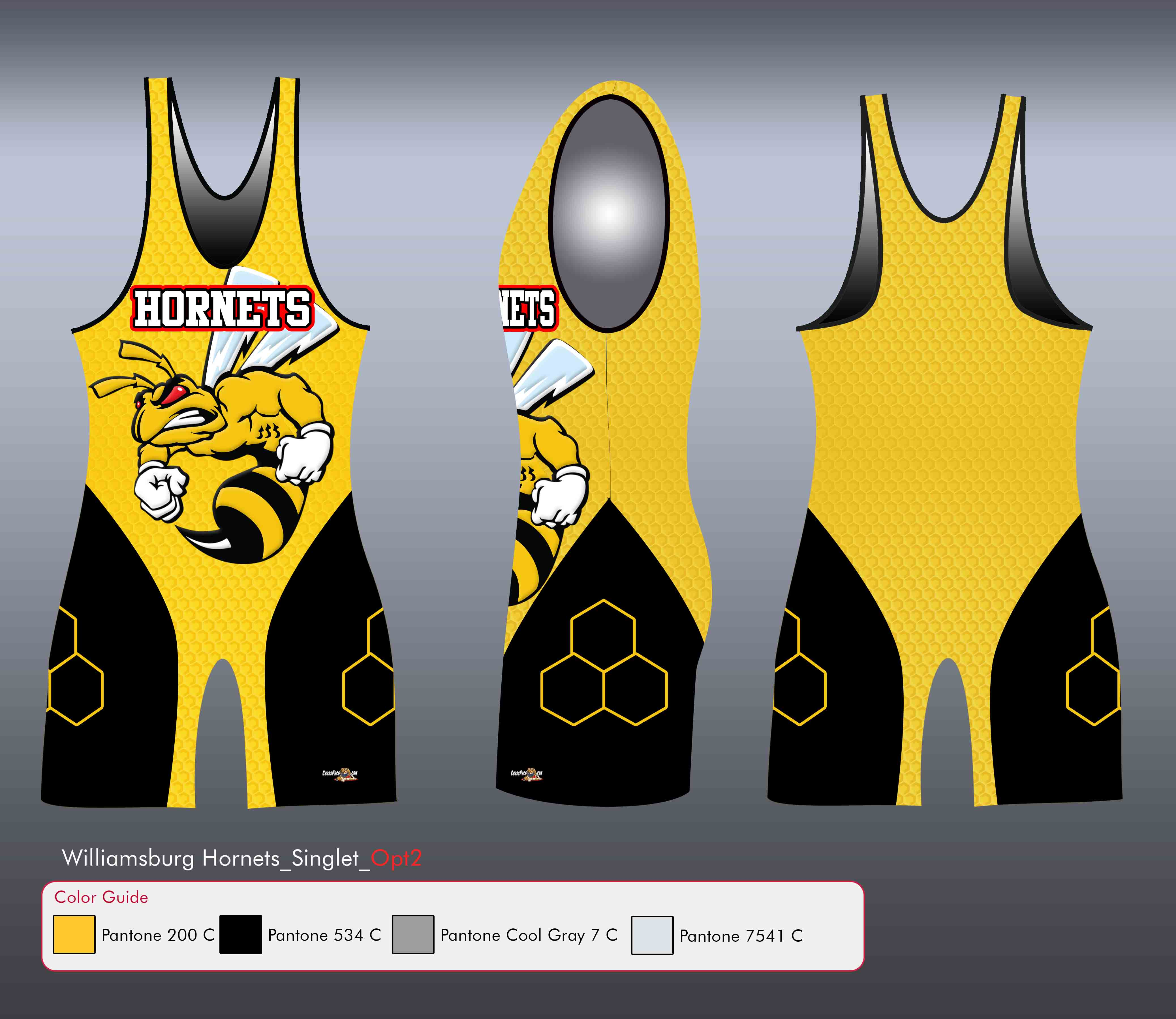 Williamsburg Hornets (YELLOW) Singlet