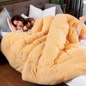 #CHRISTMAS SALE!-THICKEN SHEARLING BLANKET WINTER SOFT WARM BED QUILT FOR BEDDING TWIN FULL QUEEN KING SIZE