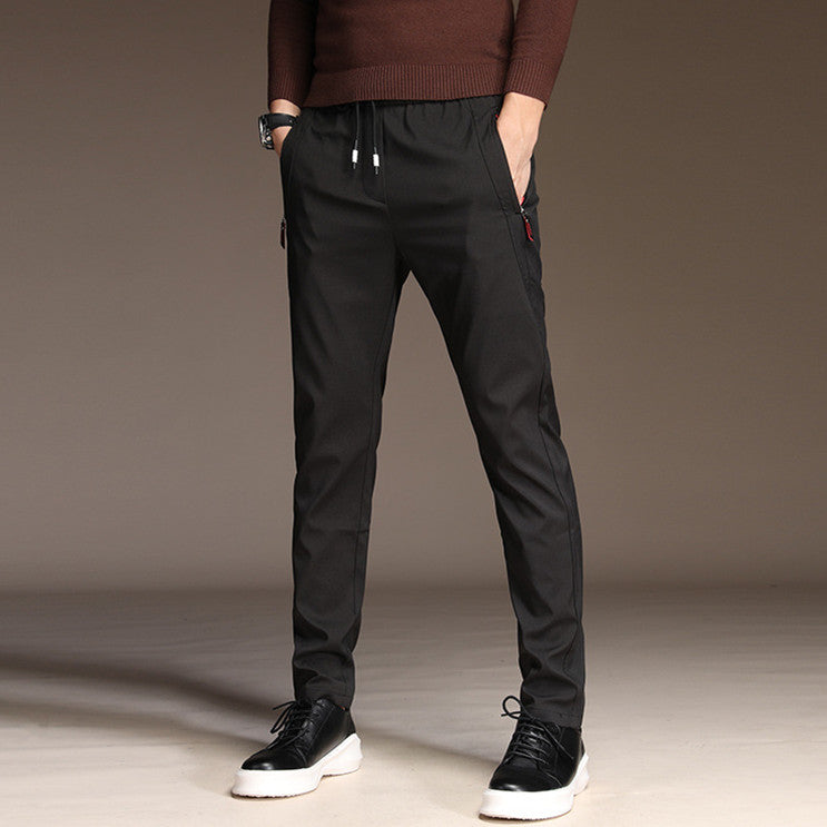 Men's Trousers Men Pants  Casual Straight Breathable Trouser