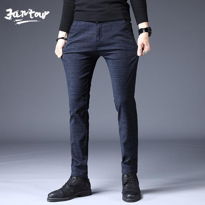 Fashion Men Slim Fit High Quality Autumn Winter Casual Trousers