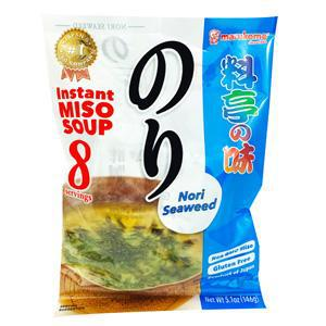 Marukome Instant Miso Soup No Msg Added Nori Seaweed 5.1oz