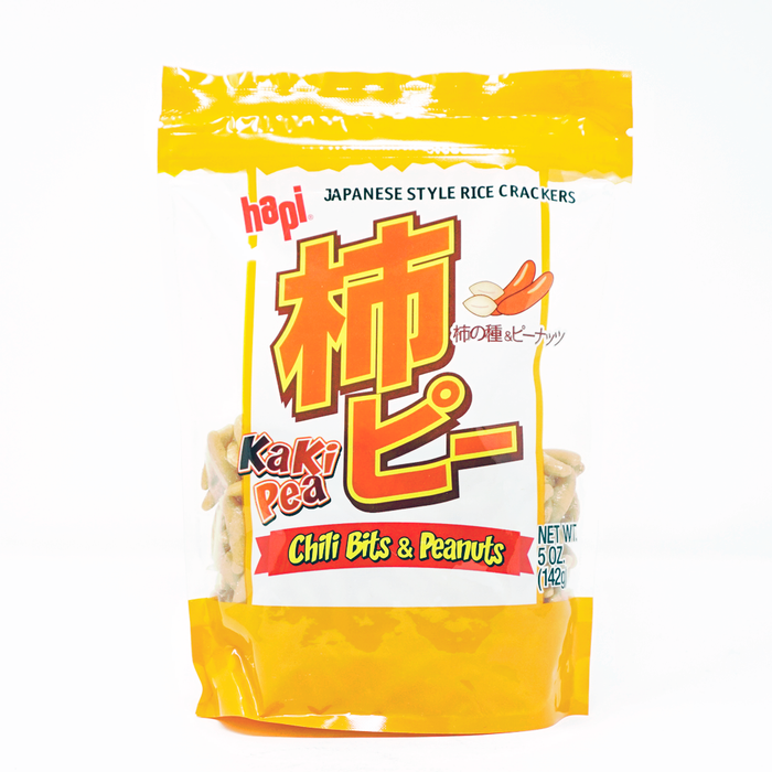 Hapi Japanese Style Rice Crackers Chili Bits & Peanuts Kaki pea 5oz/142g