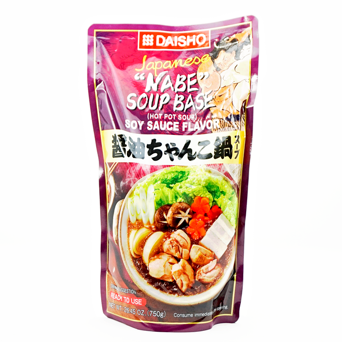 Daisho Soy Sauce Flavor Nabe Soup Japanese Hot Pot 26.45 oz/750g
