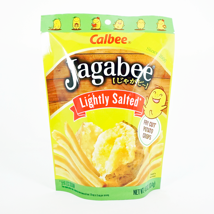 Calbee Jagabee Thick Whole Cut Potato Crisps Lightly Salted 4oz/113.4g