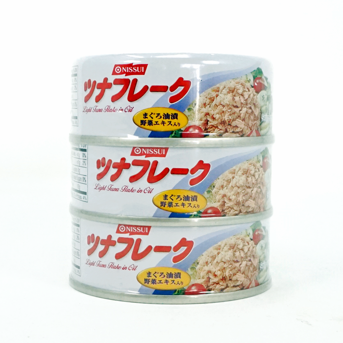 NISSUI Tuna Flake in Oil Can 3pc (2.82oz x 3) 8.46oz