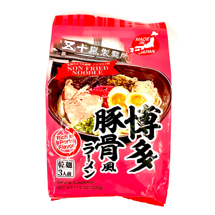 HAKATA Ramen Thin noodles Rich in Park Flavor 3 servings 11.6oz / 330g