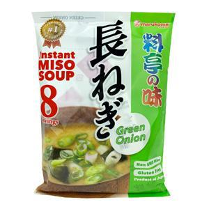 Marukome Instant Miso Soup No Msg Added Naga Negi 8p 5.4oz
