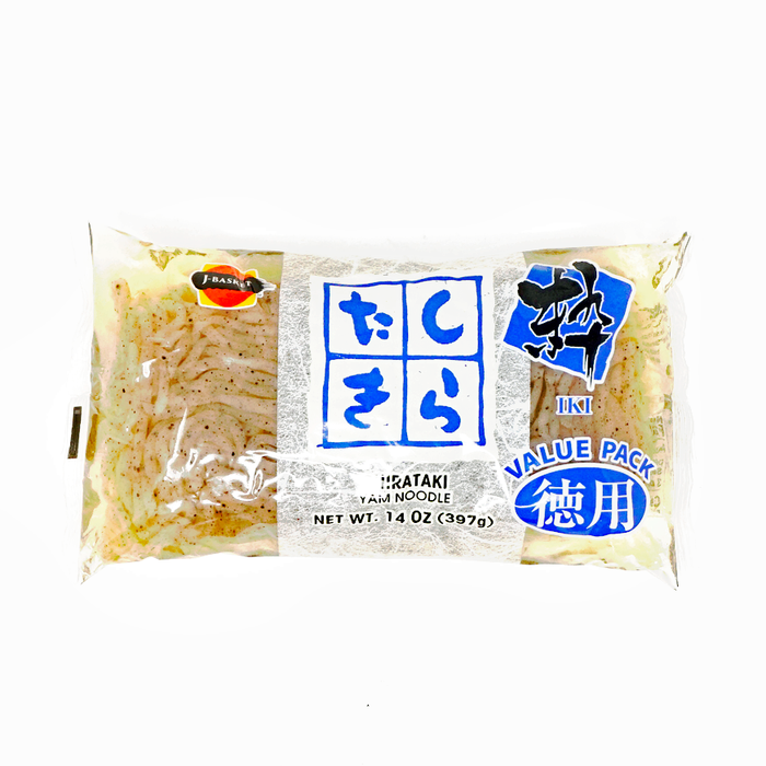 J-Basket Shirataki Black Yam Noodle 14oz/397g