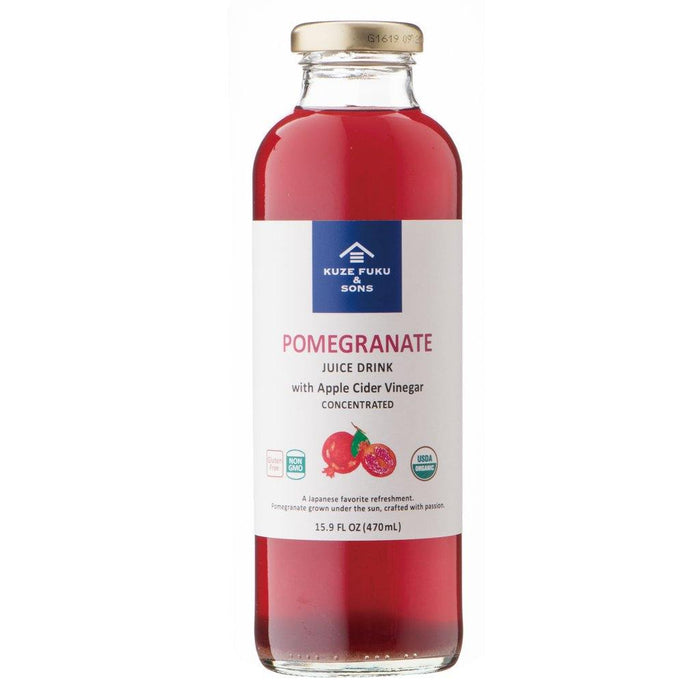 KUZEFUKU Organic FRUIT VINEGAR DRINK - POMEGRANATE 16 fl. oz.
