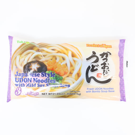 Takamori Katsuo Dashi Fresh Udon With Bonito Soup Base 3pack 21.69oz/615g