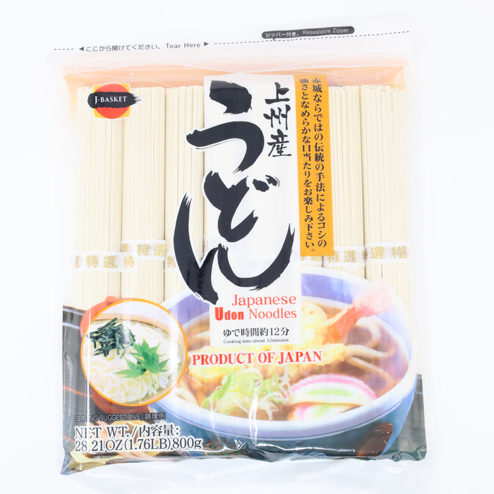 J-Basket Japanese Udon Dried Noodles 28.21oz/800g - GOHAN Market