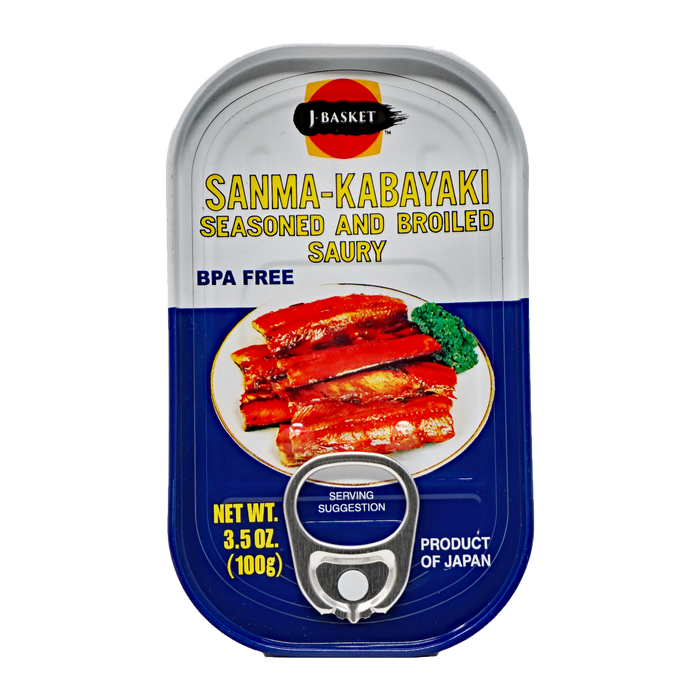 J-Basket Sanma-Kabayaki 3.5oz(100g) Seasoned and Broiled Saury