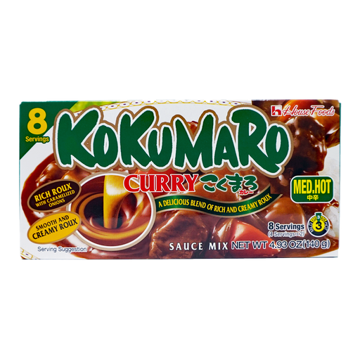 House Foods Kokumaro Curry Roux Med Hot 8 Servings 4.93oz/140g