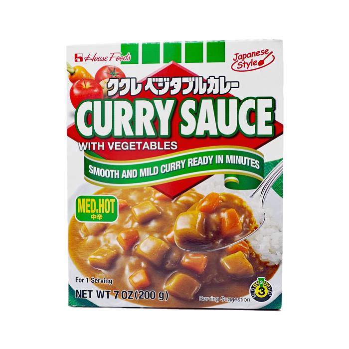 "House Foods Instant KUKURE Curry With Vegetable ""MED HOT"" 7oz(200g)"