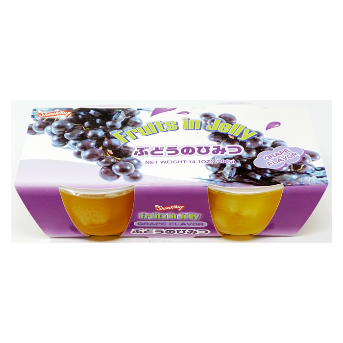 Shirakiku Fruits in Jelly Grape 2pc 14.1oz