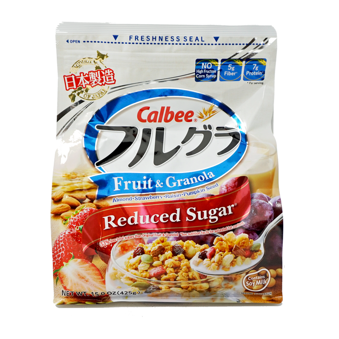 Calbee Furugura Fruit and Granola Reduced Sugar 15 oz