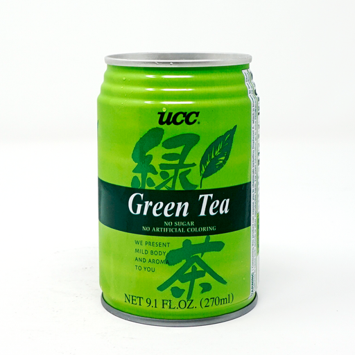 Ucc Green Tea No sugar Can 9.1floz