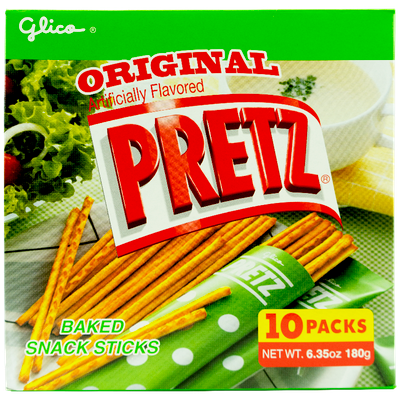 GLICO Pretz Party Size Baked Snack Sticks Salad Flavor 180g