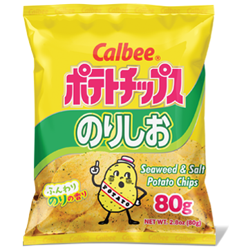 Calbee Potato Chips Seaweed and Salt 2.8oz/80g