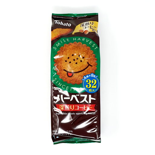 Tohato Harvest Super Thin'&Tasty Appetizing Biscuit Coffee 32p