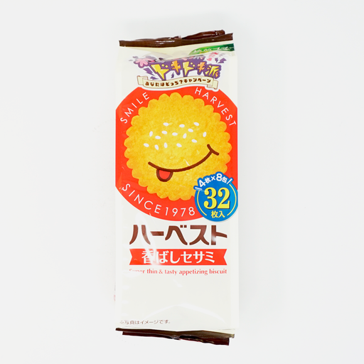 Tohato Harvest Super Thin'&Tasty Appetizing Biscuit Sesame 32p