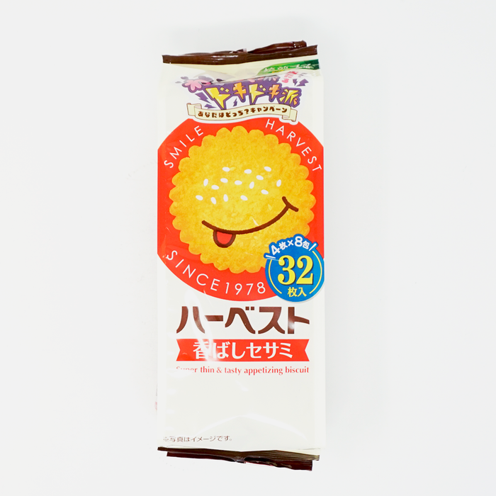 Tohato Harvest Super Thin and Tasty Appetizing Biscuit Sesame 32p 3.52 oz/100g