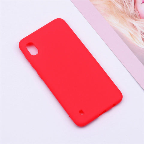 Soft Silicone Matte Color Phone Case For Samsung Galaxy A10 - Zouhrphonecase