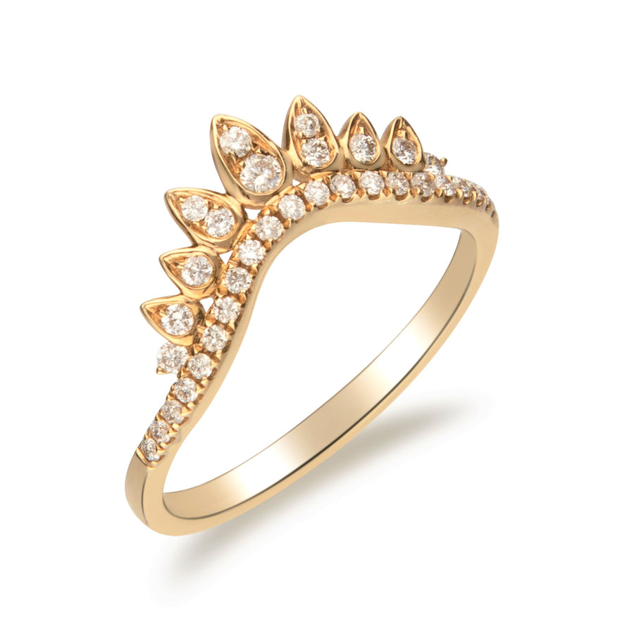14 Karat Yellow Gold Diamond Band Ring