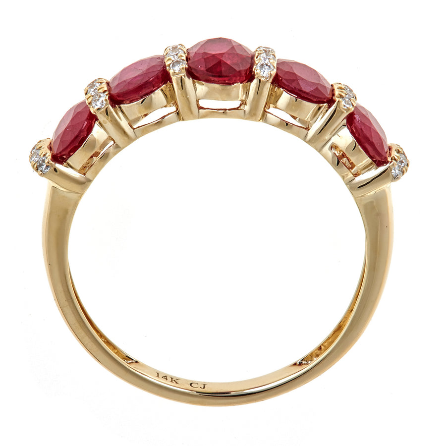 14KY RUBY RING