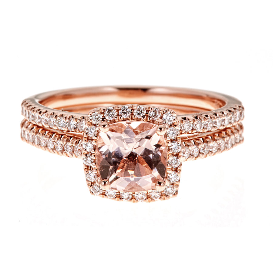 14KR MORGANITE RING