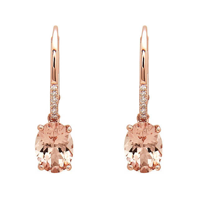 14KR MORGANITE EARRING