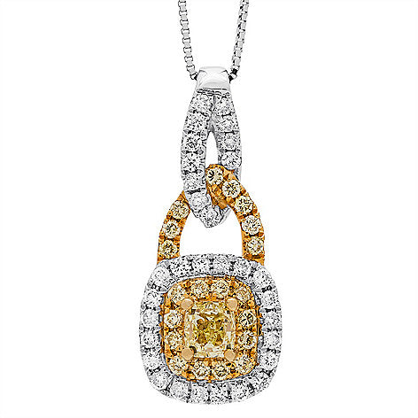 18KTT FANCY YELLOW DIAMOND PENDANT