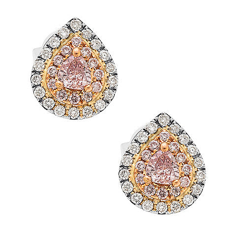 18KTT NATURAL PINK DIAMOND EARRING